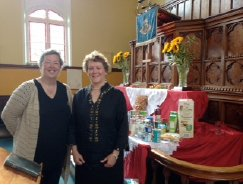 Carol and Hazel at Misterton Churches Harvest